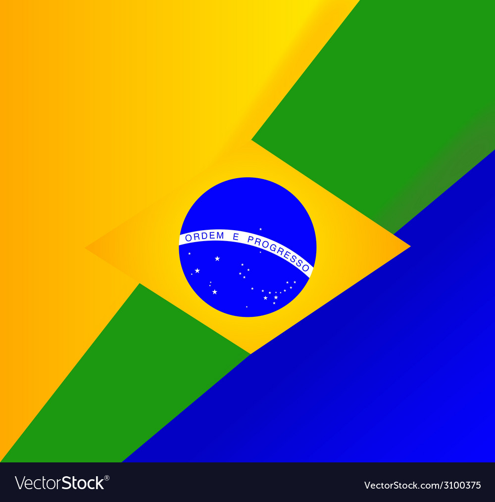 Abstract brazilian flag background vector | Price: 1 Credit (USD $1)
