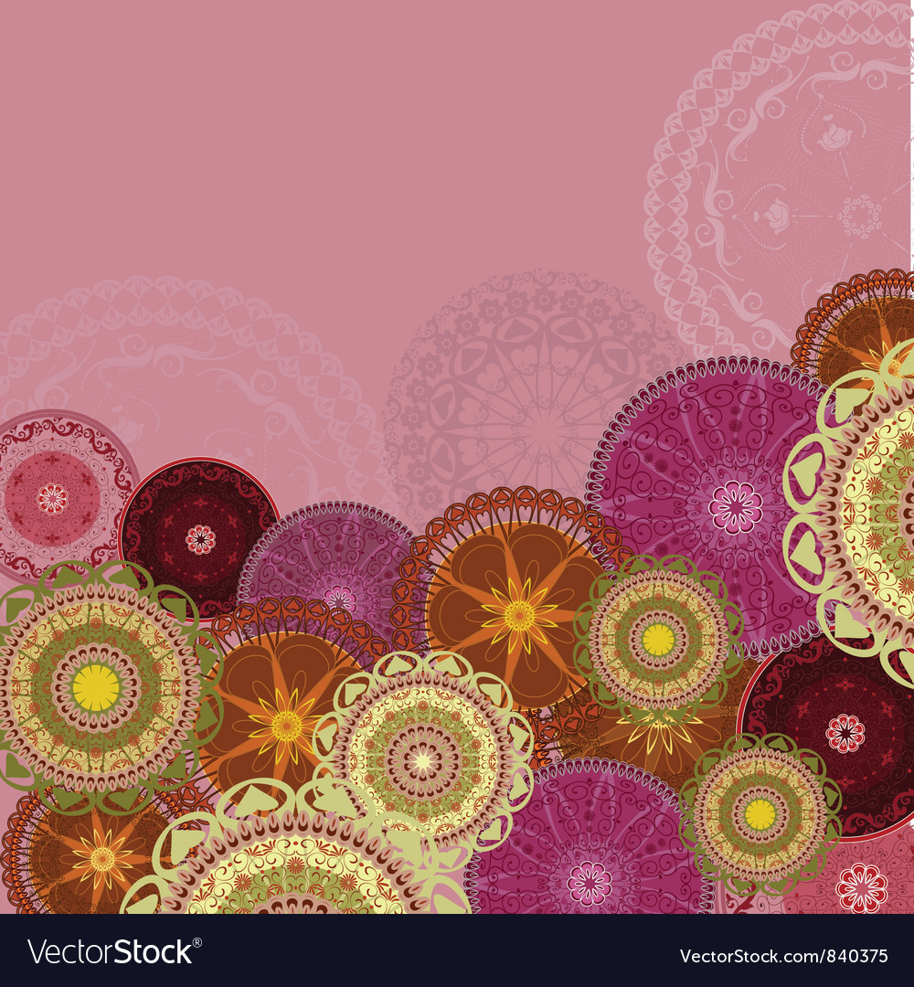 Arabesques patterns background vector | Price: 1 Credit (USD $1)