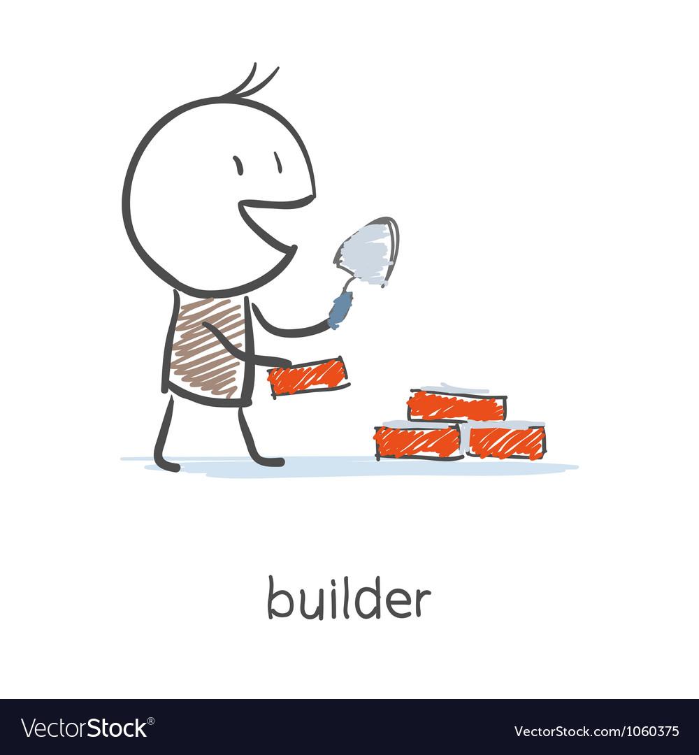 Builder worker vector | Price: 1 Credit (USD $1)