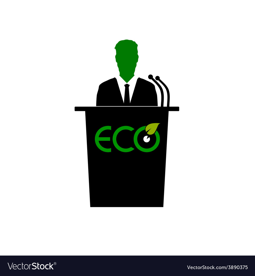 Eco orator color vector | Price: 1 Credit (USD $1)