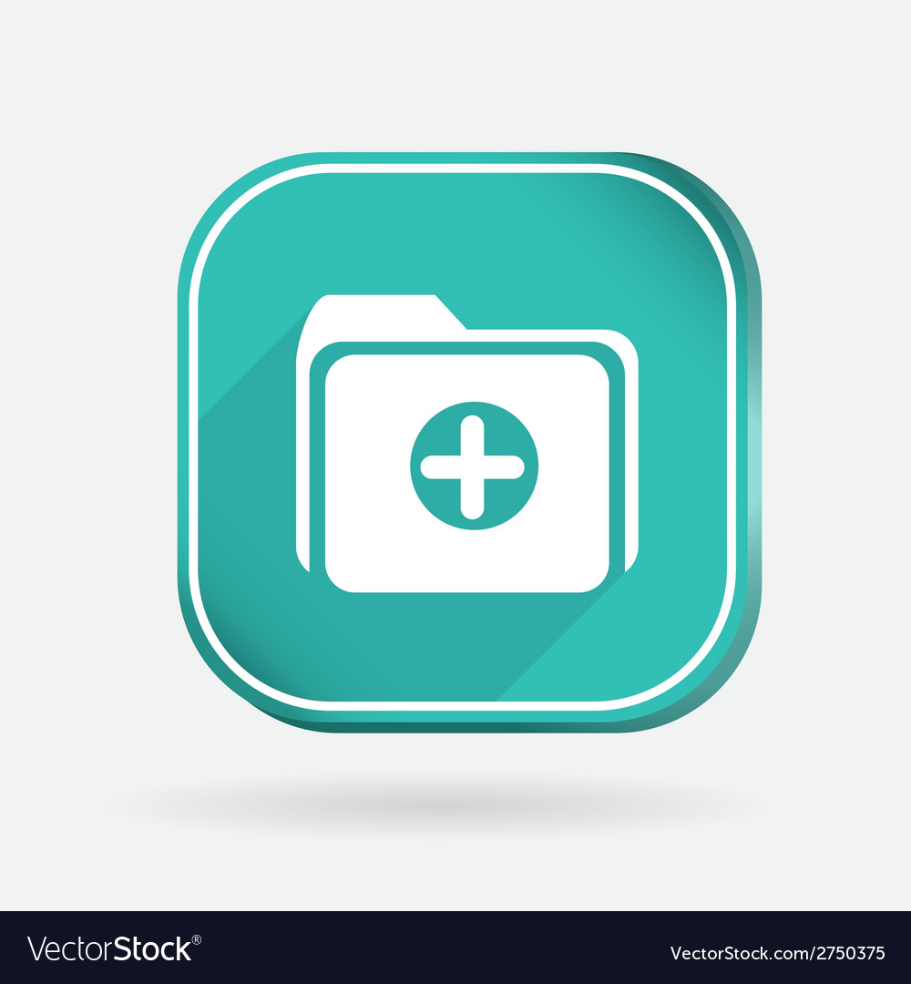 Folder for documents color square icon vector   Price: 1 Credit (USD $1)