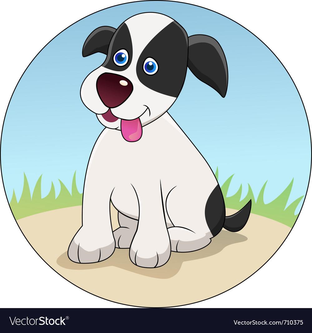 Funny dog cartoon vector   Price: 1 Credit (USD $1)