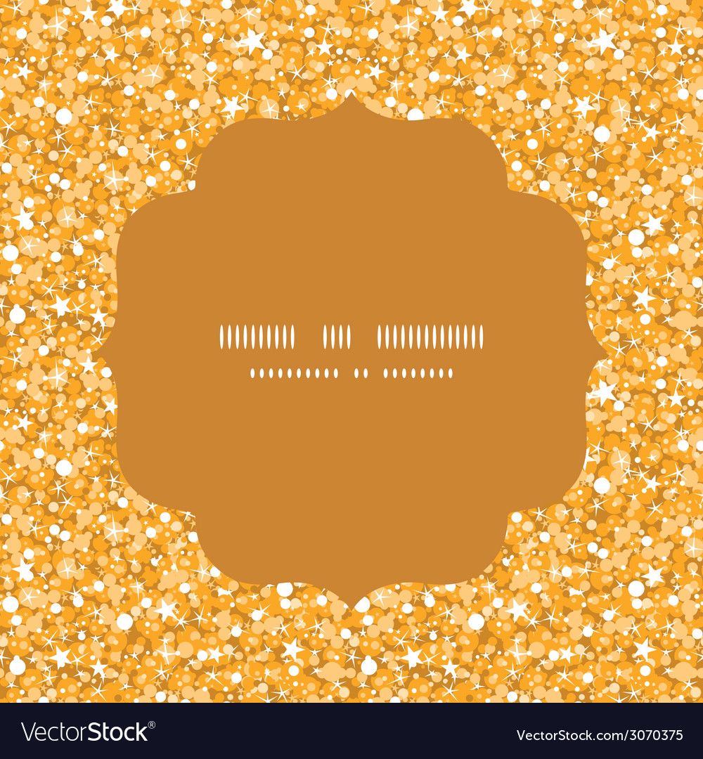 Golden shiny glitter texture circle frame seamless vector | Price: 1 Credit (USD $1)