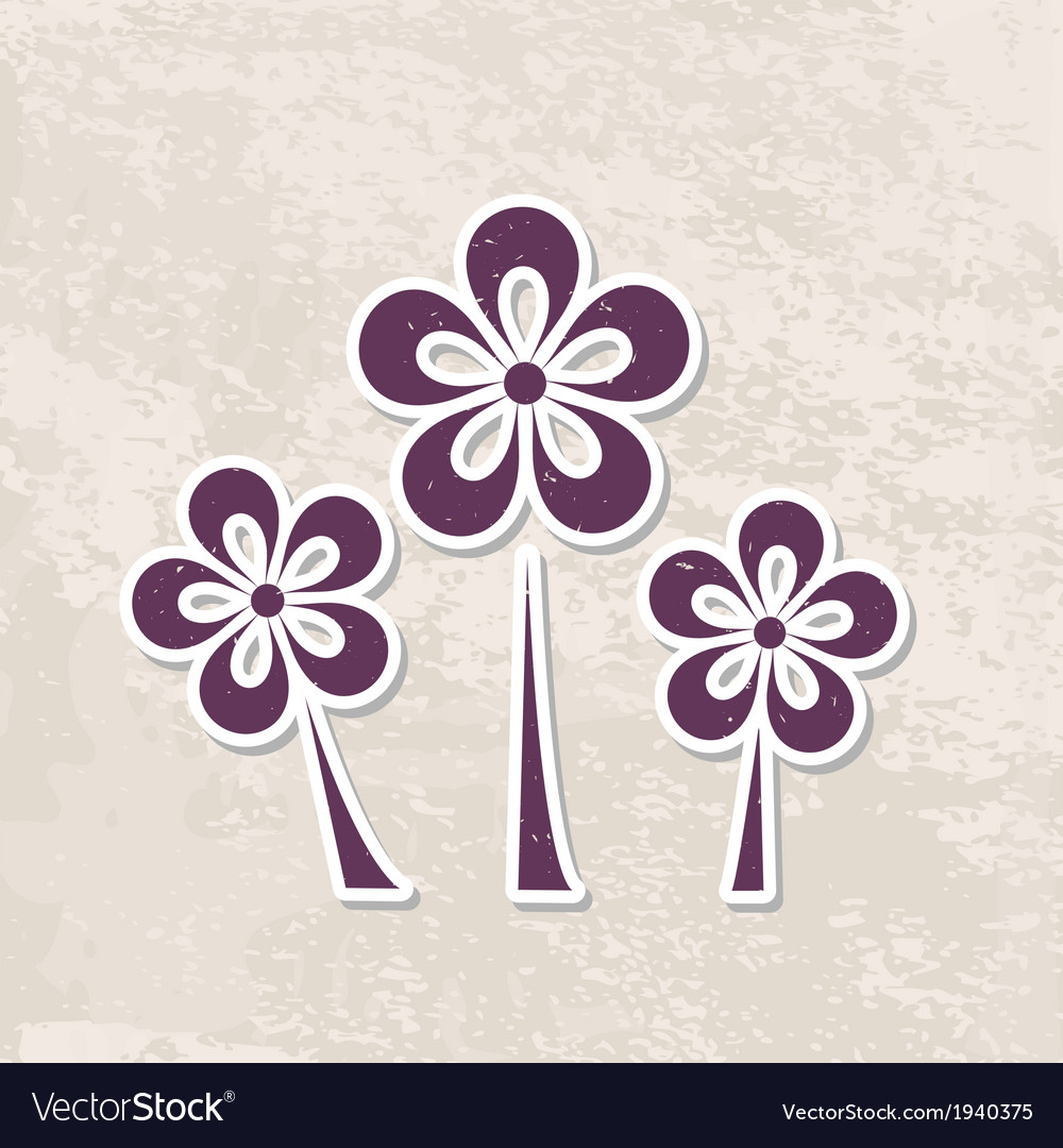 Grungy floral background vector   Price: 1 Credit (USD $1)