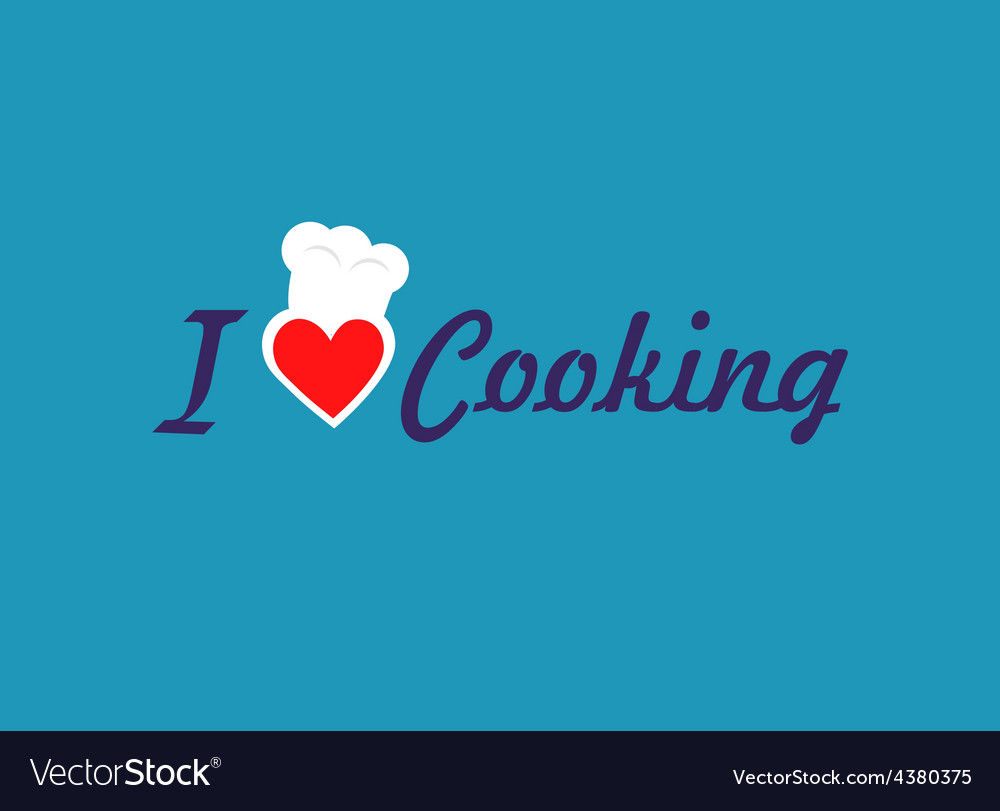 I love cooking vector | Price: 1 Credit (USD $1)