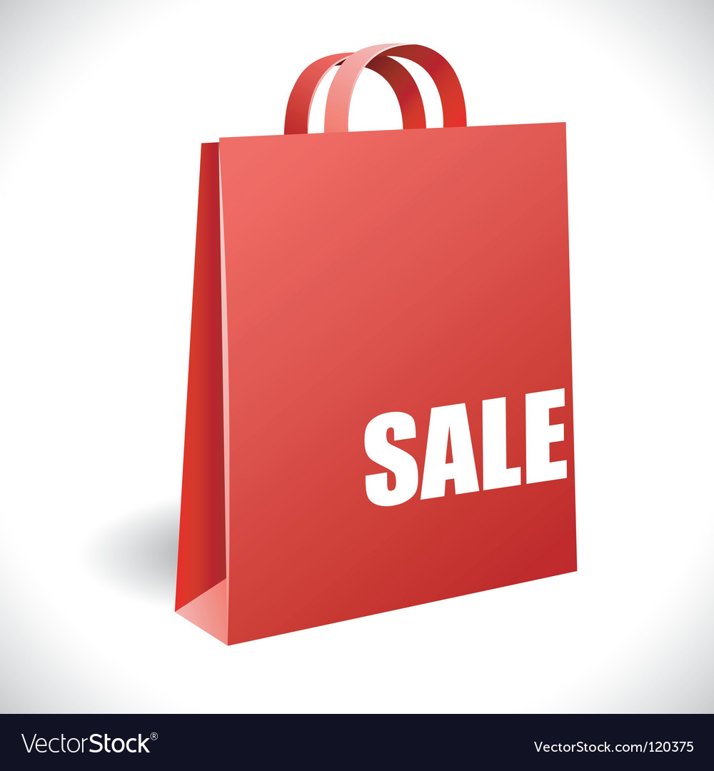 Sale bag vector | Price: 1 Credit (USD $1)