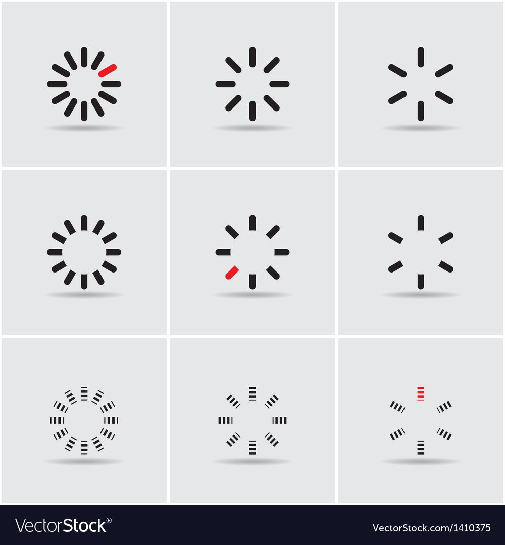 Set of progress indicators vector | Price: 1 Credit (USD $1)
