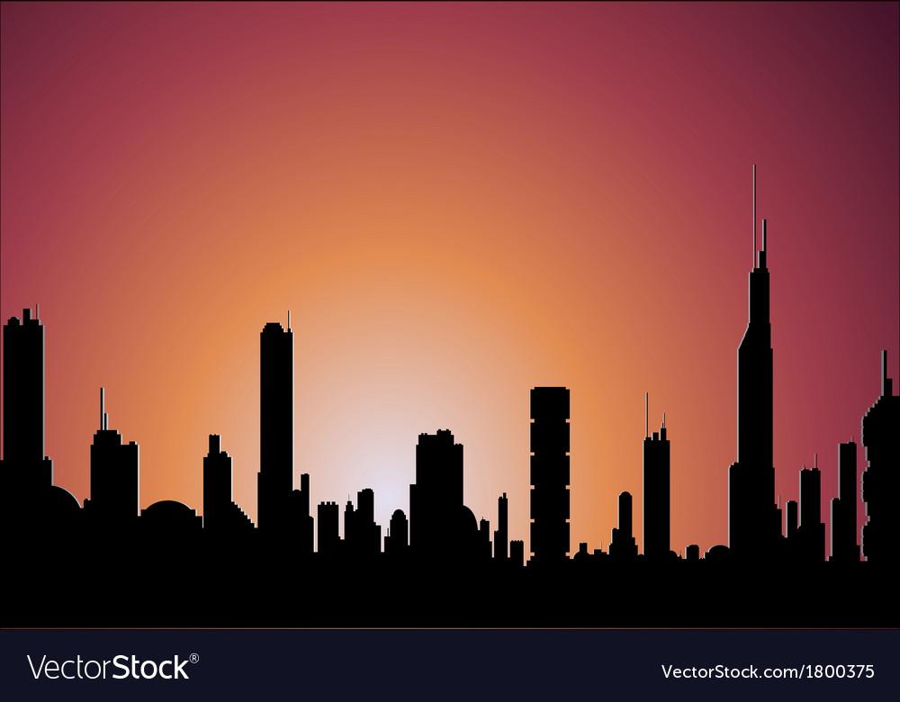 Sunrise city vector   Price: 1 Credit (USD $1)
