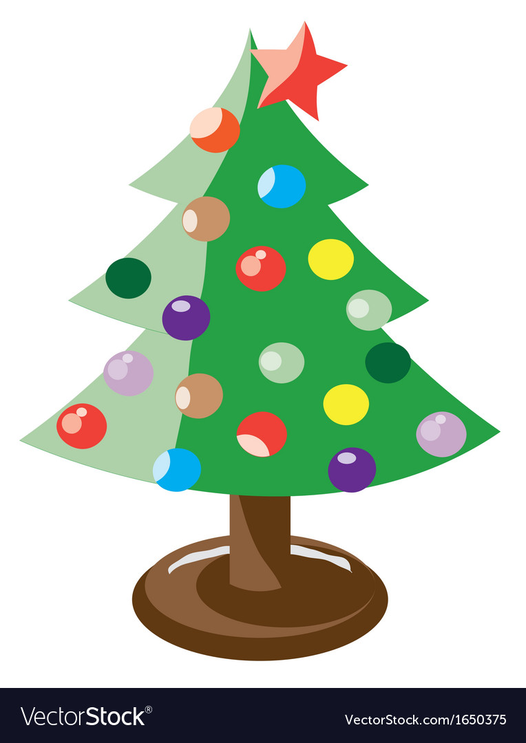 X mas tree vector | Price: 1 Credit (USD $1)