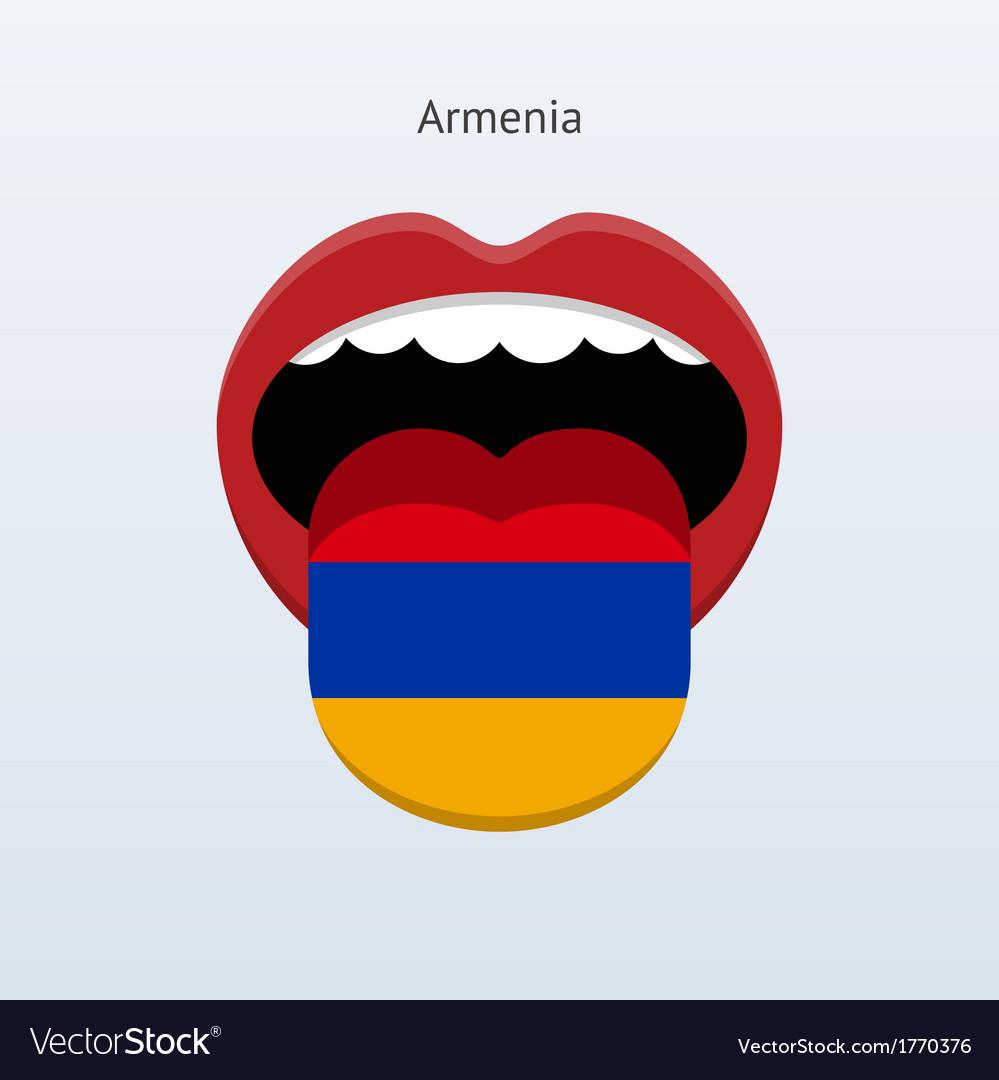 Armenia language abstract human tongue vector   Price: 1 Credit (USD $1)