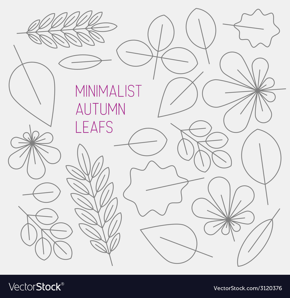 Autumn minimalistic abstract floral background vector | Price: 1 Credit (USD $1)