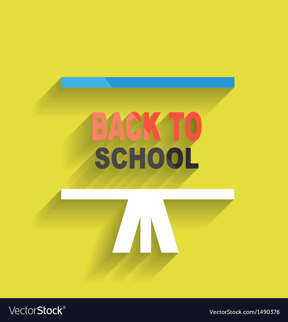 Back to school concept icon flat design vector   Price: 1 Credit (USD $1)