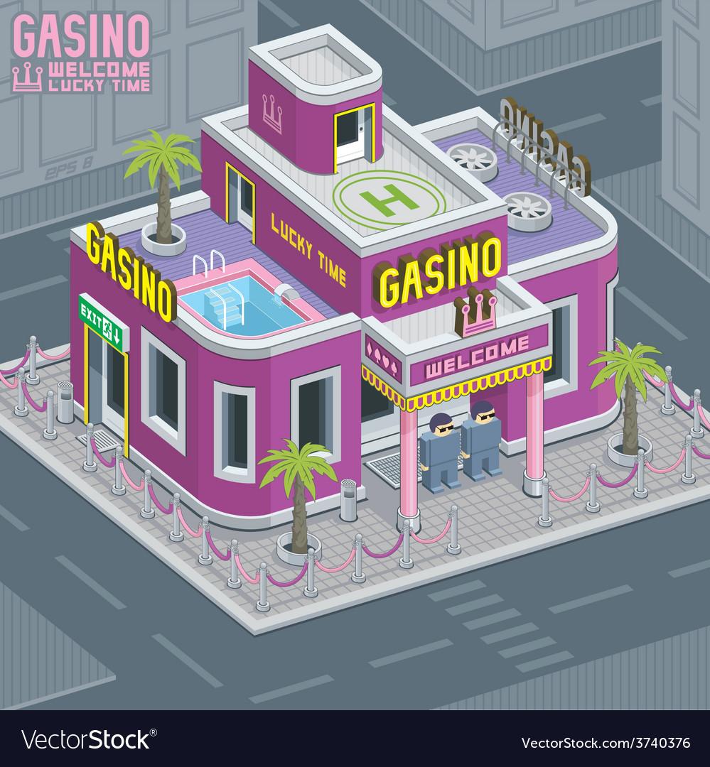 Casino building vector | Price: 1 Credit (USD $1)