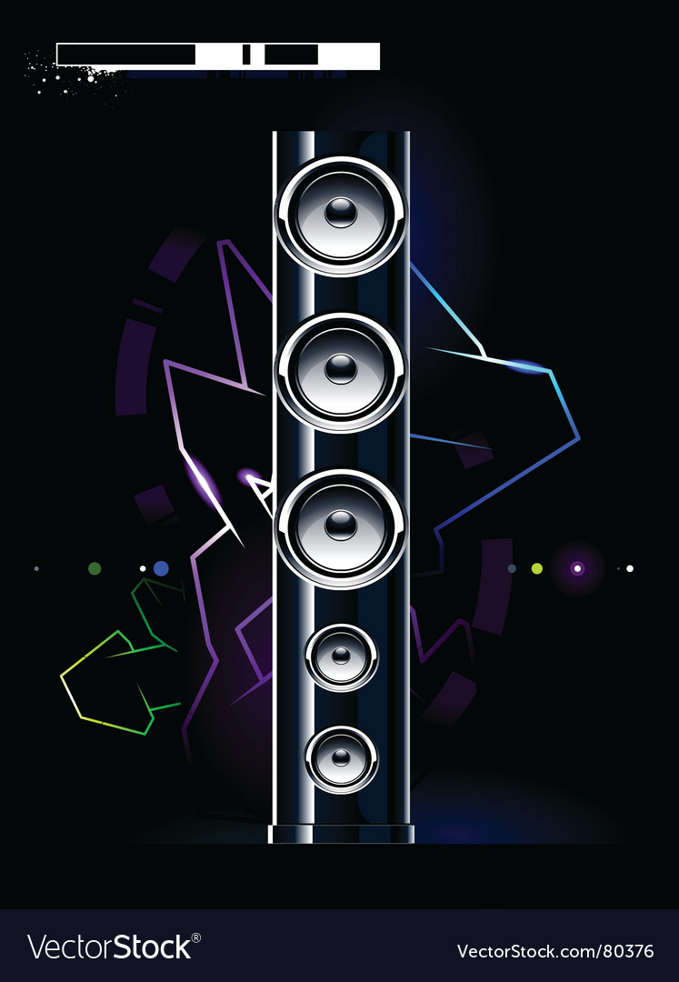 Futuristic sound system vector | Price: 1 Credit (USD $1)