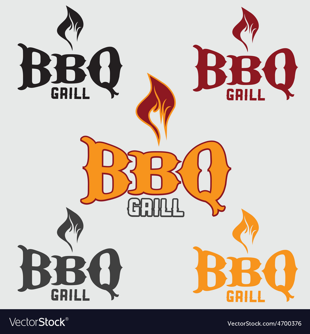Set of western bbq design template vector | Price: 1 Credit (USD $1)