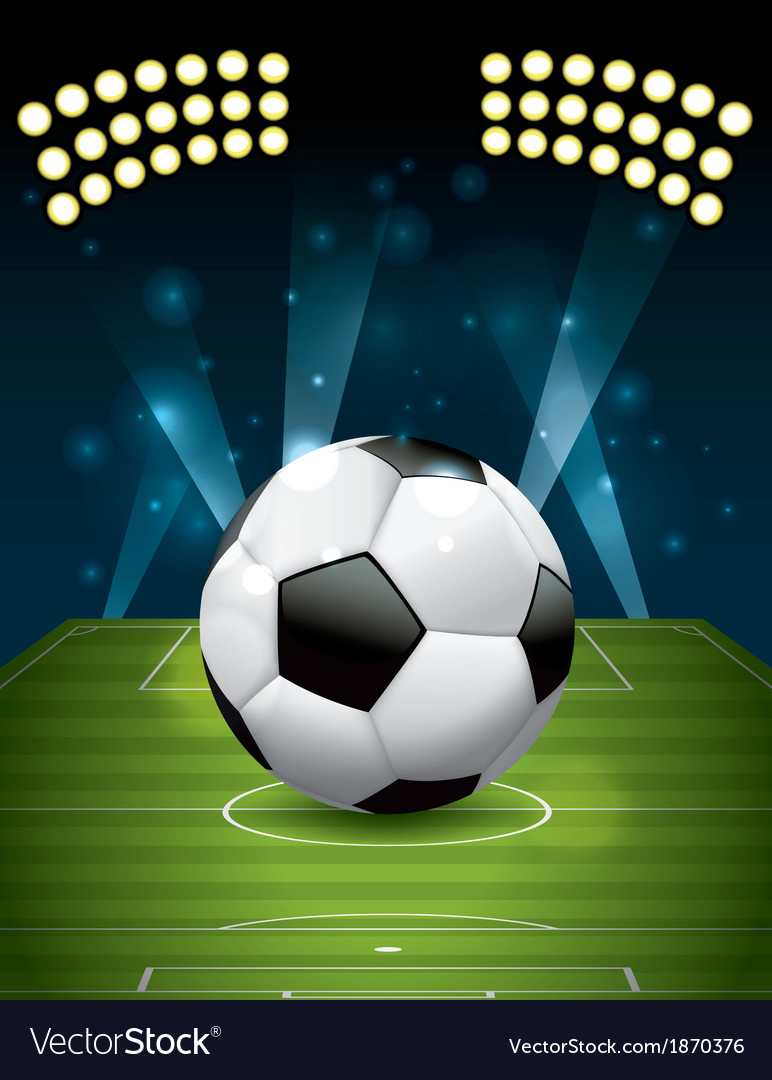 Soccer - football on a grass field vector | Price: 1 Credit (USD $1)