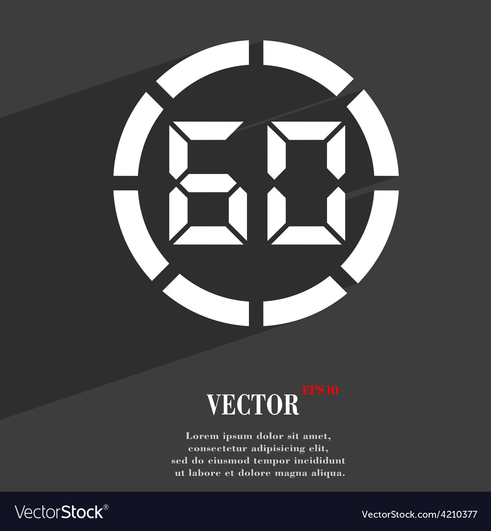 60 second stopwatch icon symbol flat modern web vector | Price: 1 Credit (USD $1)