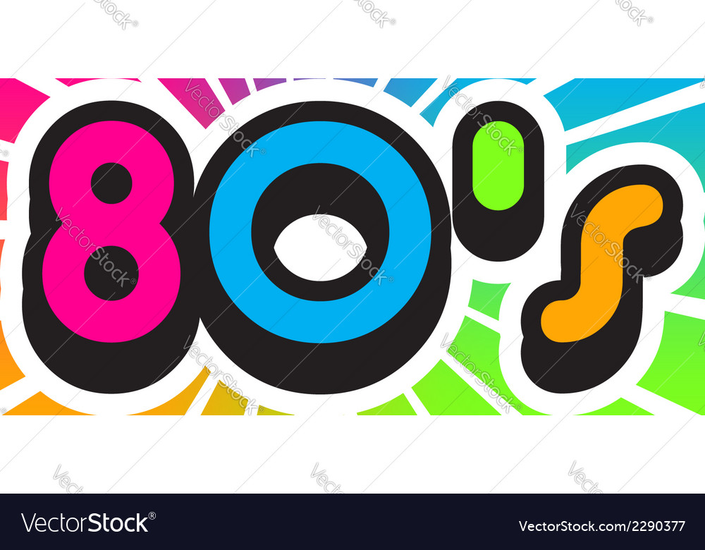 80s vintage color background vector | Price: 1 Credit (USD $1)