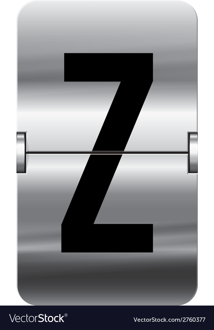 Alphabet silver flipboard letters z vector | Price: 1 Credit (USD $1)