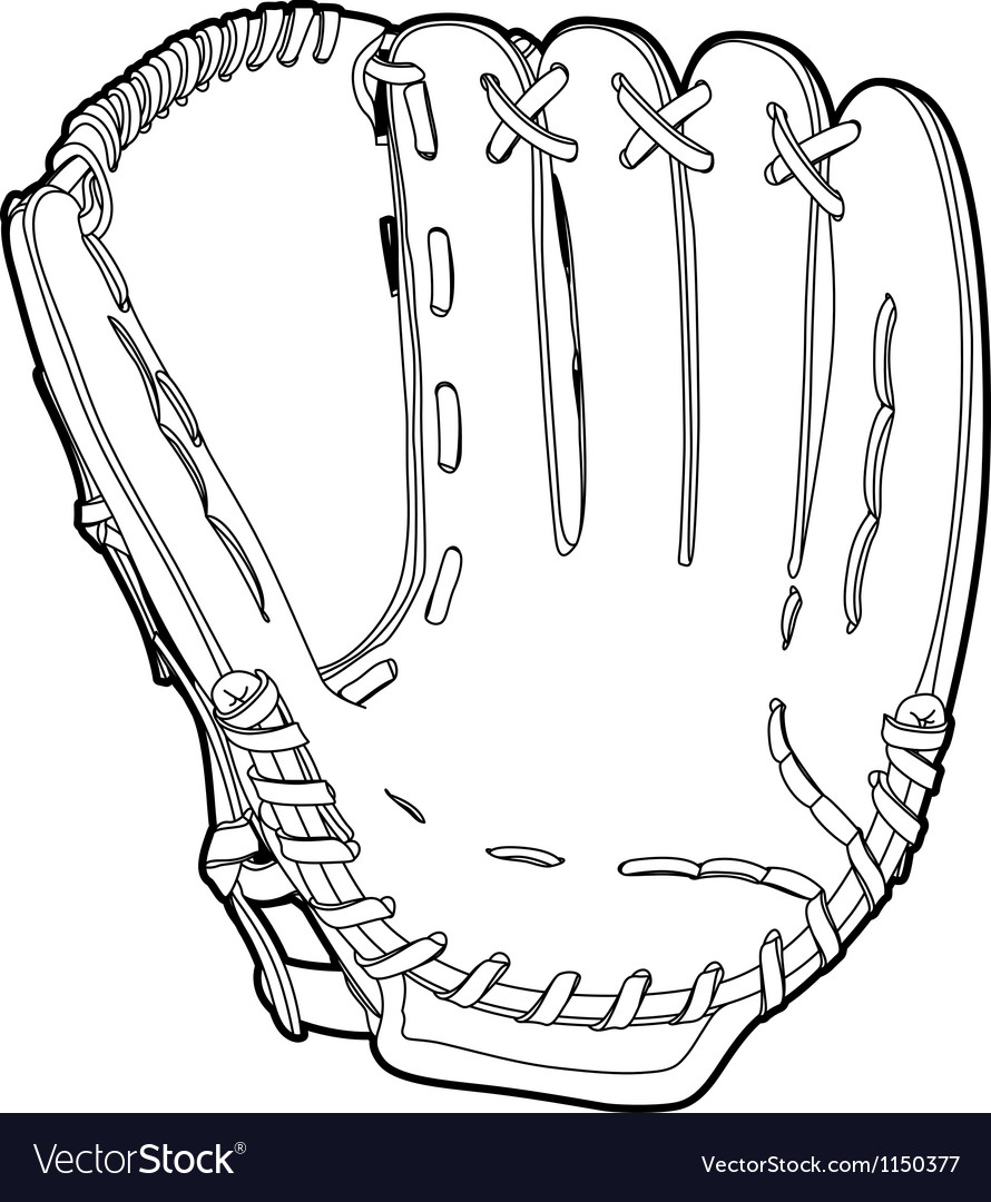 Baseball glove vector | Price: 1 Credit (USD $1)