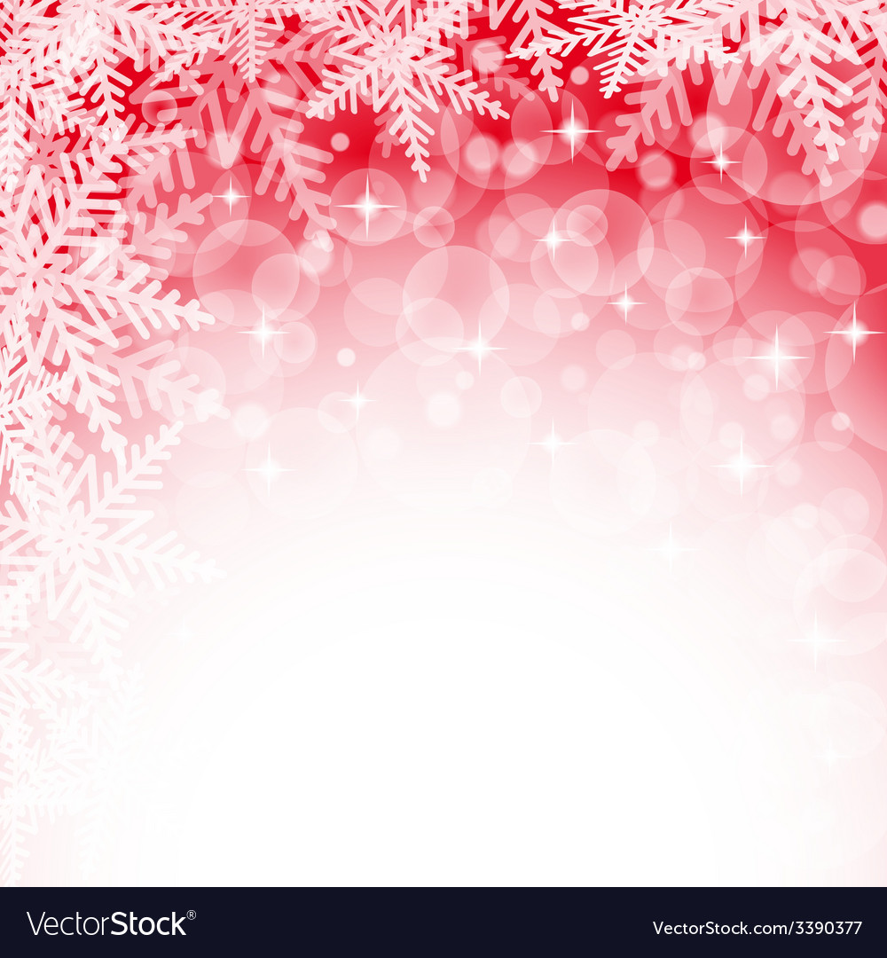 Christmas snowflakes on red background vector | Price: 1 Credit (USD $1)