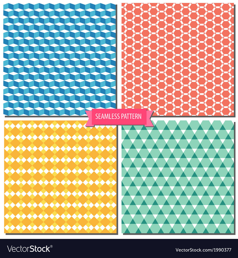 Colorful seamless pattern 01 vector | Price: 1 Credit (USD $1)