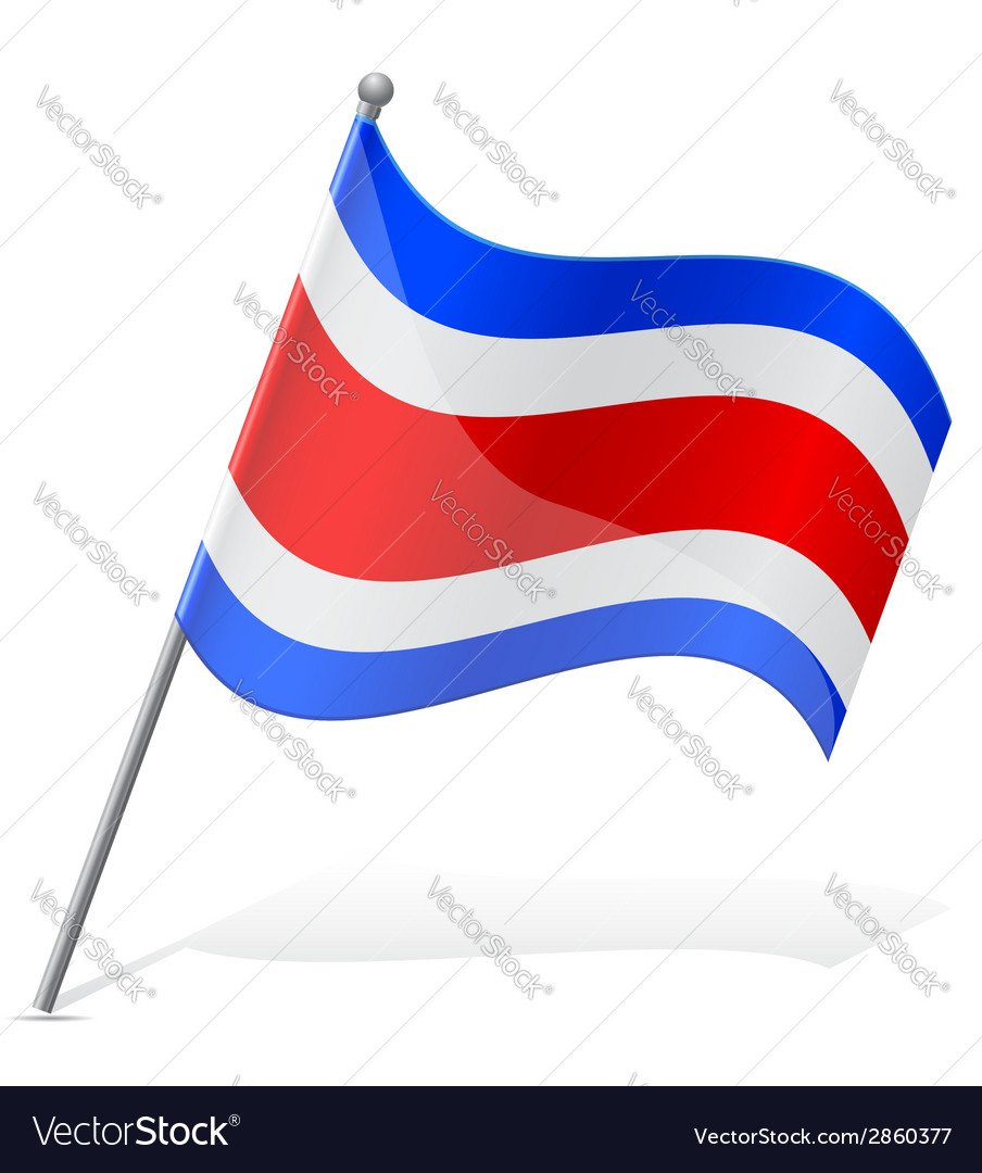 Flag of costa rica vector   Price: 1 Credit (USD $1)