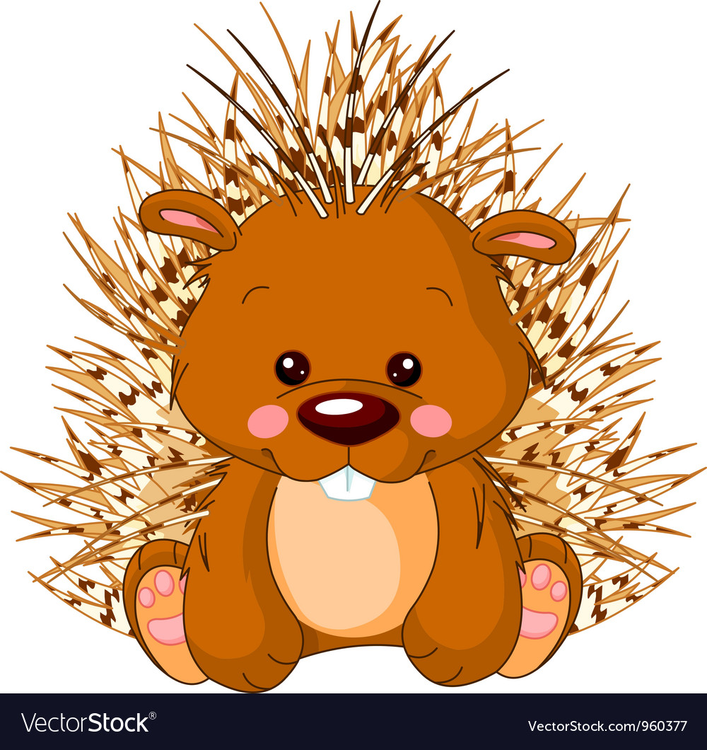 Fun zoo porcupine vector | Price: 3 Credit (USD $3)
