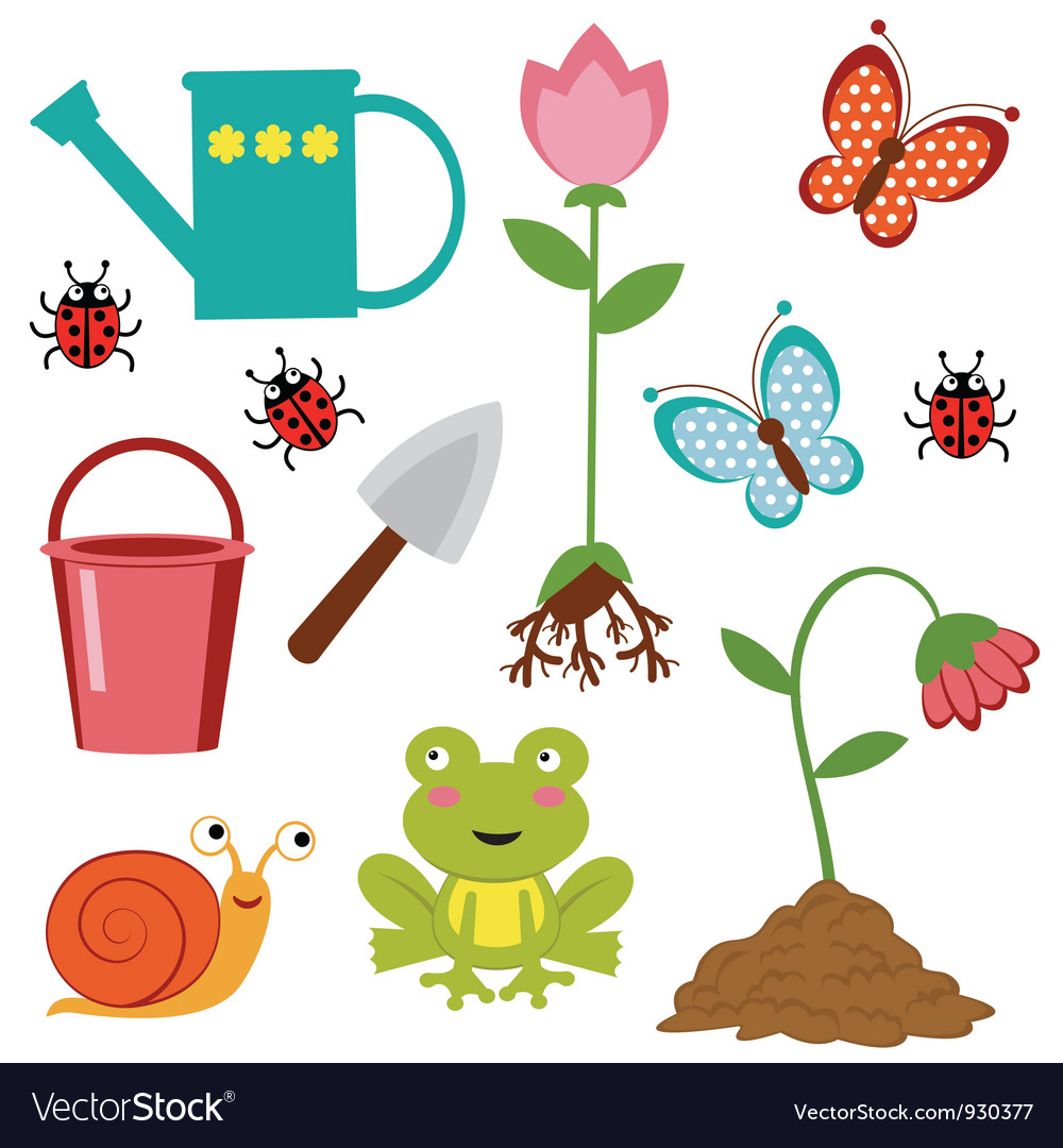 Gardening icons vector | Price: 1 Credit (USD $1)