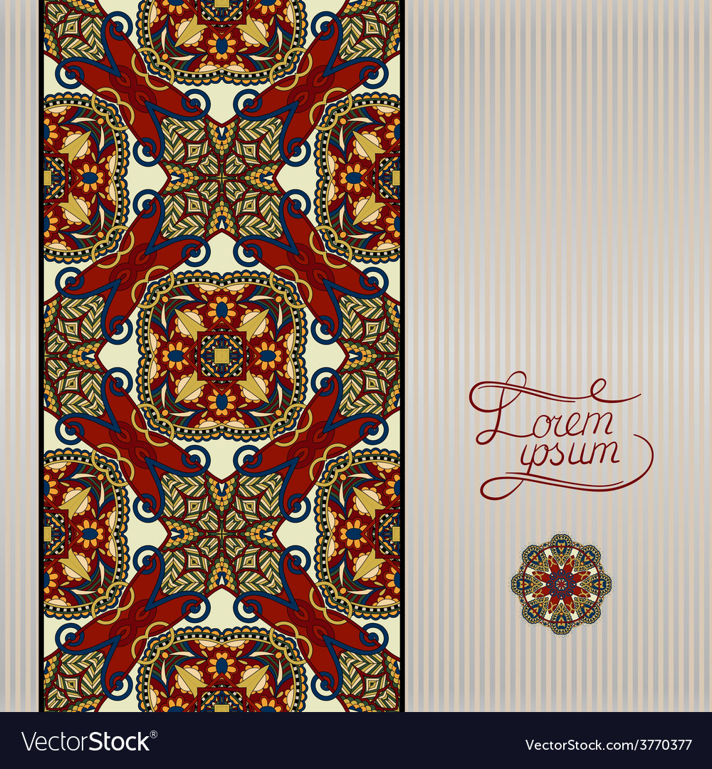 Geometric background vintage ornamental design in vector | Price: 1 Credit (USD $1)