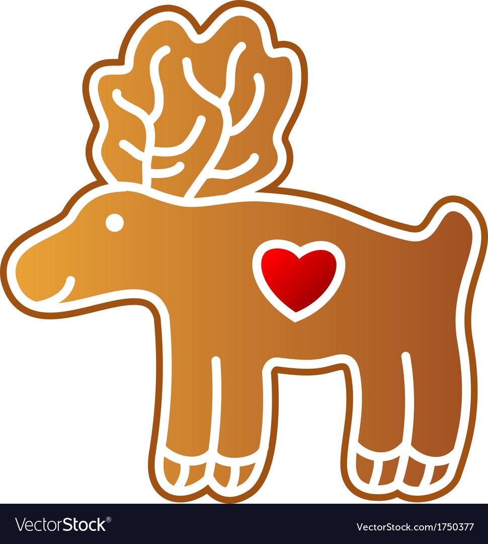 Gingerbread elk vector | Price: 1 Credit (USD $1)