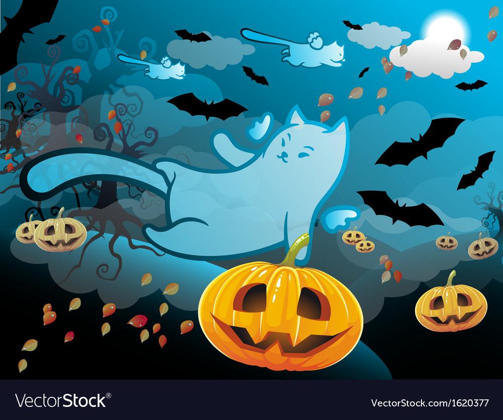 Halloween cat vector | Price: 1 Credit (USD $1)
