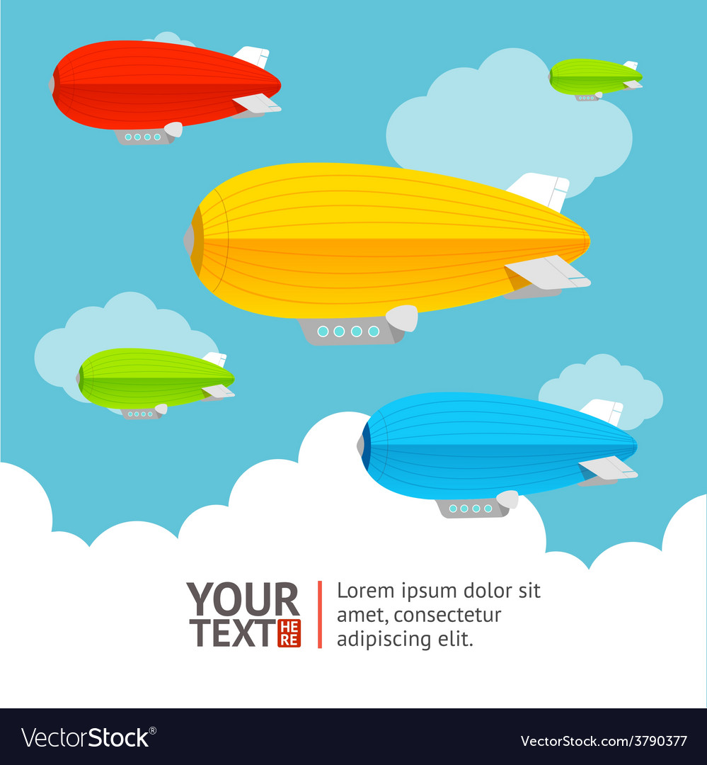 Hot air ballons option banners vector | Price: 1 Credit (USD $1)