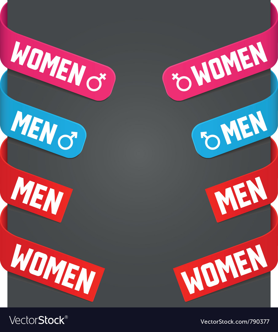 Left and right side signs - men women vector | Price: 1 Credit (USD $1)