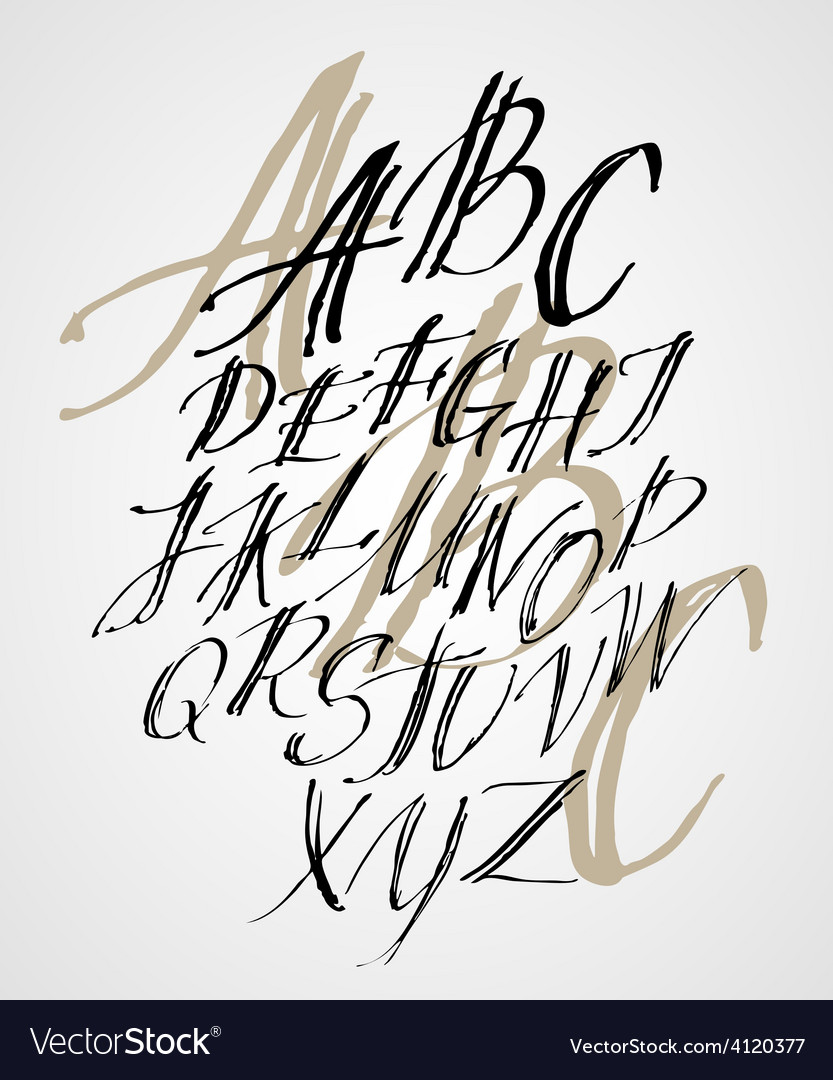 The original alphabet hand-made lettering vector | Price: 3 Credit (USD $3)