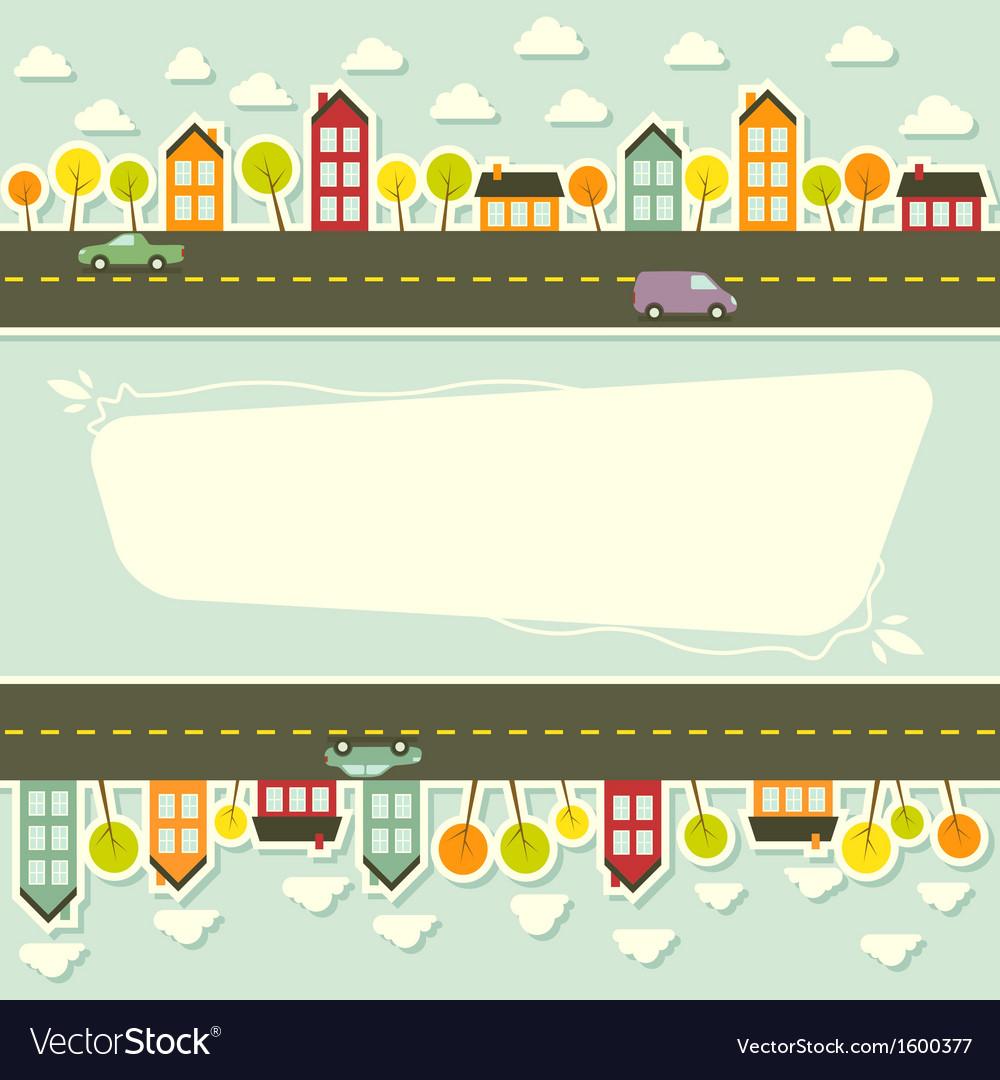 Paper urban landscape vector   Price: 1 Credit (USD $1)