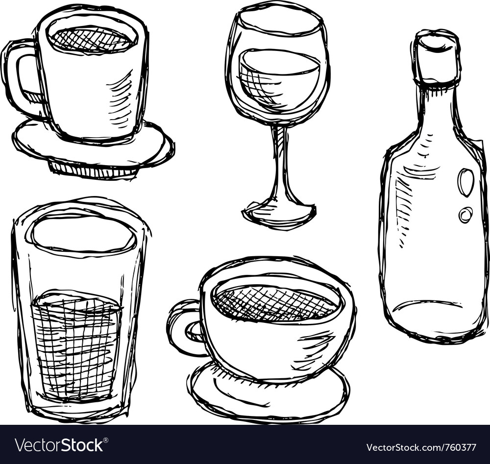 Scribble series - drinks vector | Price: 1 Credit (USD $1)