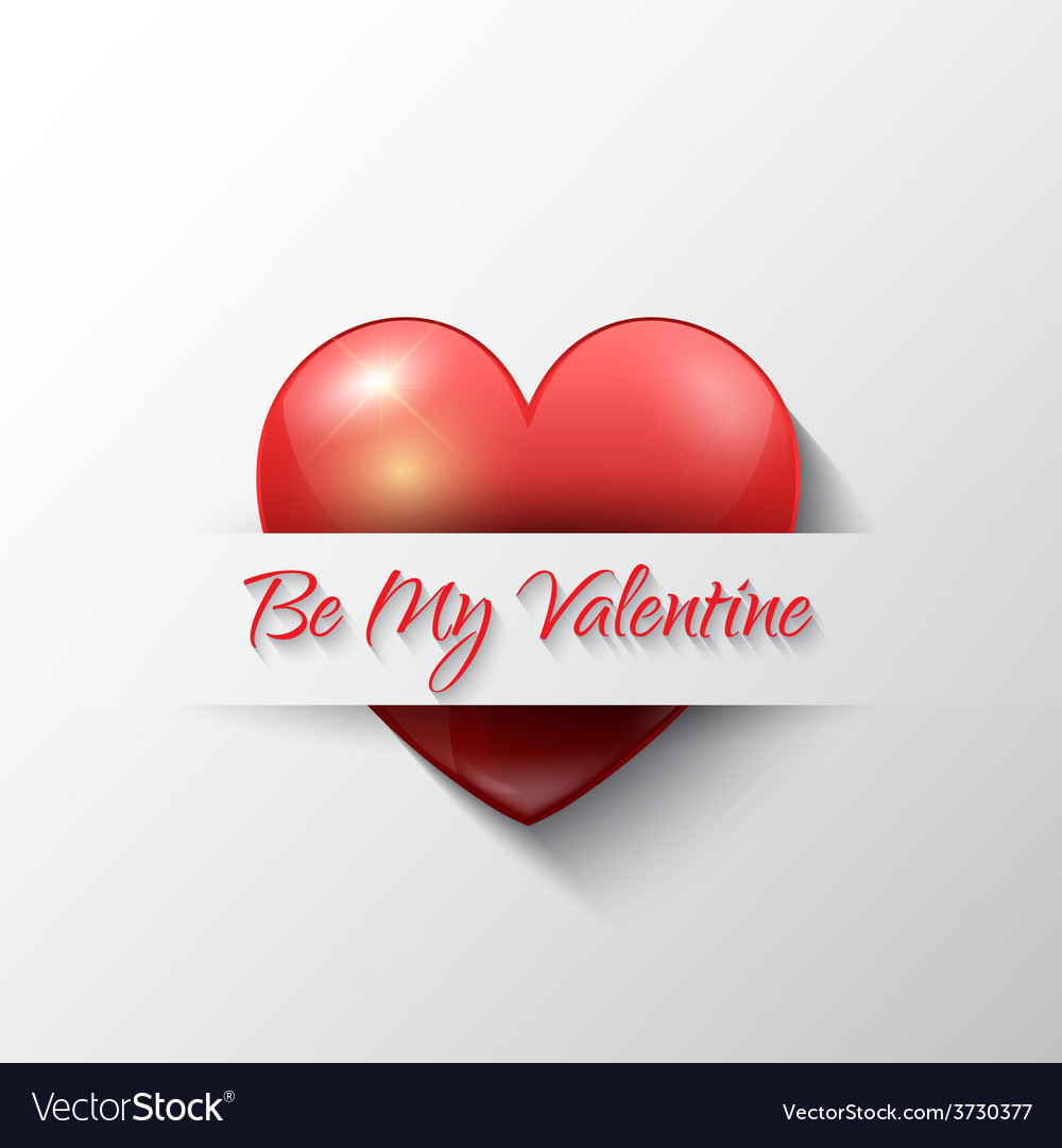 Valentines day background with heart vector | Price: 1 Credit (USD $1)