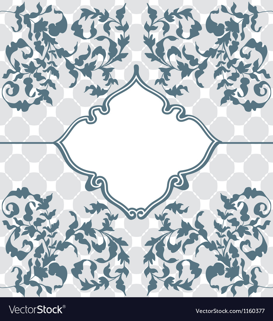 Vintage floral ornament vector | Price: 1 Credit (USD $1)