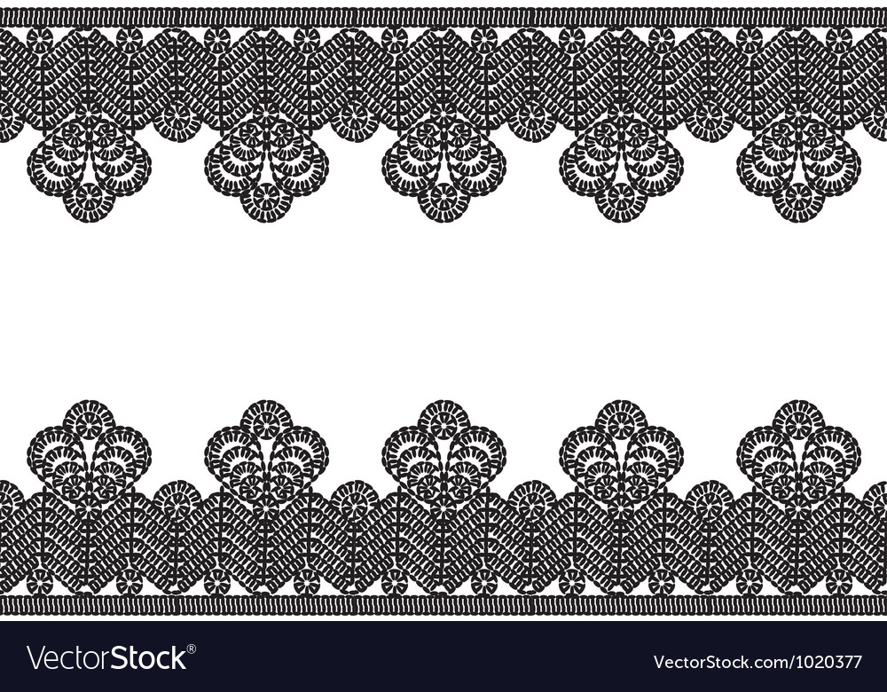 White background with black lace border vector | Price: 1 Credit (USD $1)