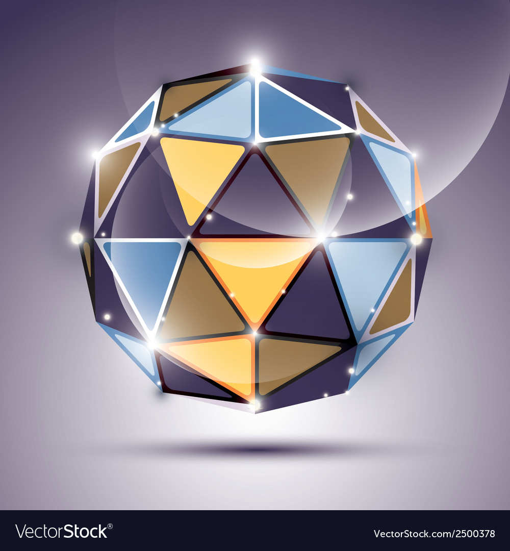 Abstract 3d gleam sphere with geometric glossy orb vector | Price: 1 Credit (USD $1)