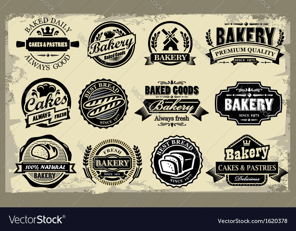 Bakery labels vector | Price: 1 Credit (USD $1)