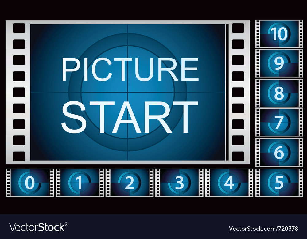 Countdown film frames vector | Price: 1 Credit (USD $1)
