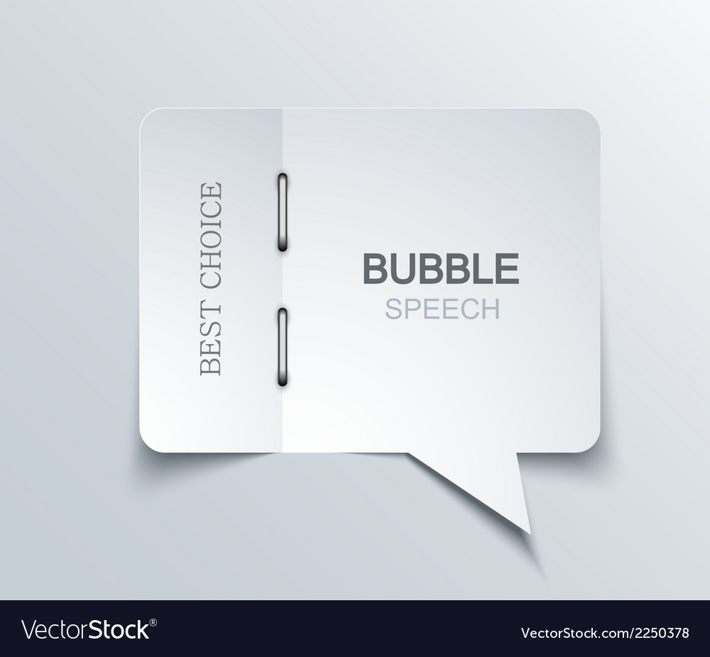 Flat bubble speech background vector | Price: 1 Credit (USD $1)