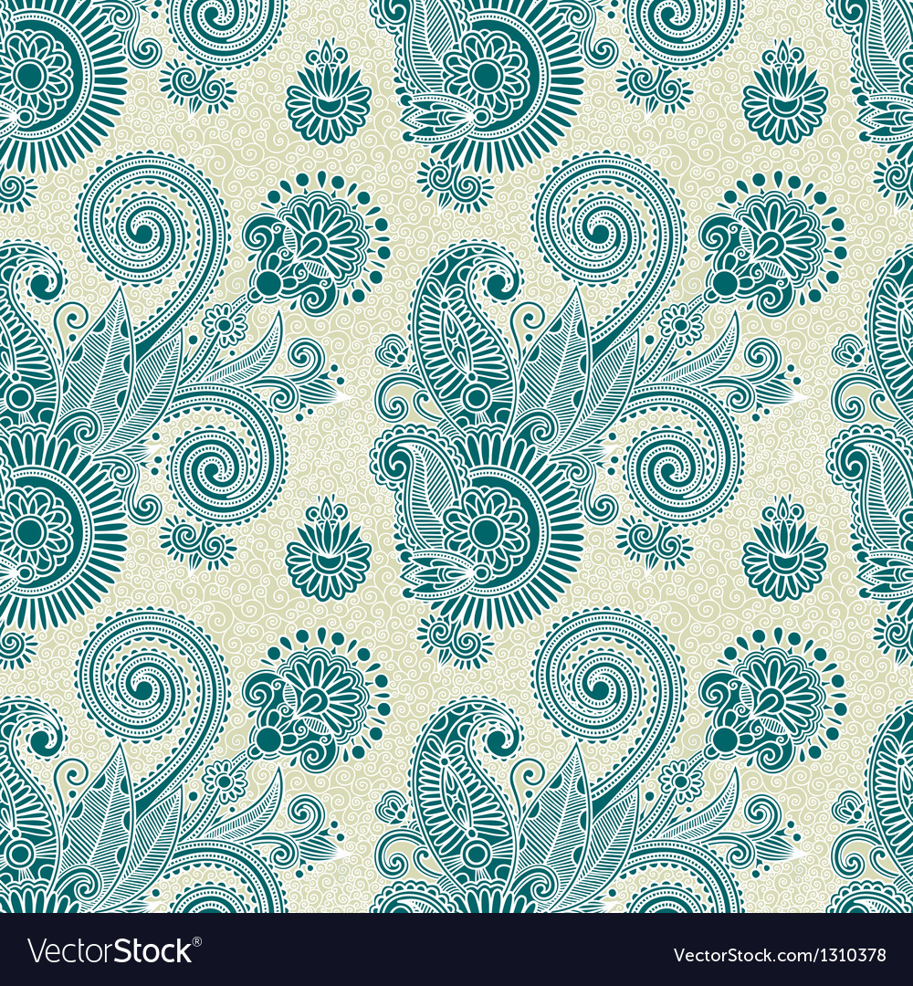 Hand draw ornate vintage seamless pattern vector | Price: 1 Credit (USD $1)