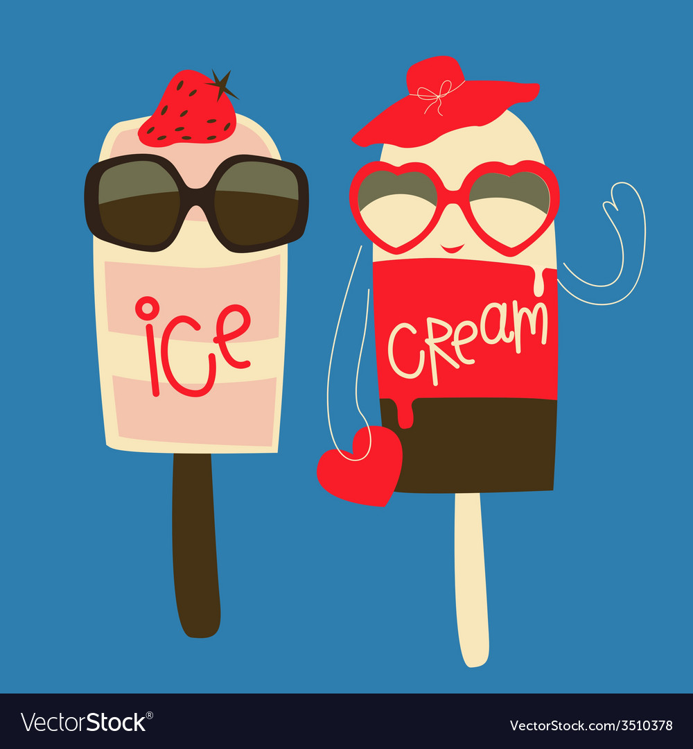 Ice cream fashion couple vector | Price: 1 Credit (USD $1)