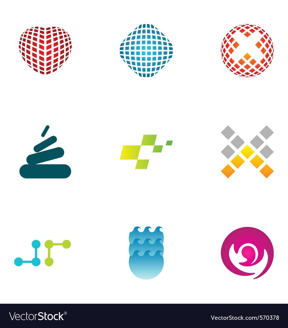 Logo design elements set 47 vector   Price: 1 Credit (USD $1)