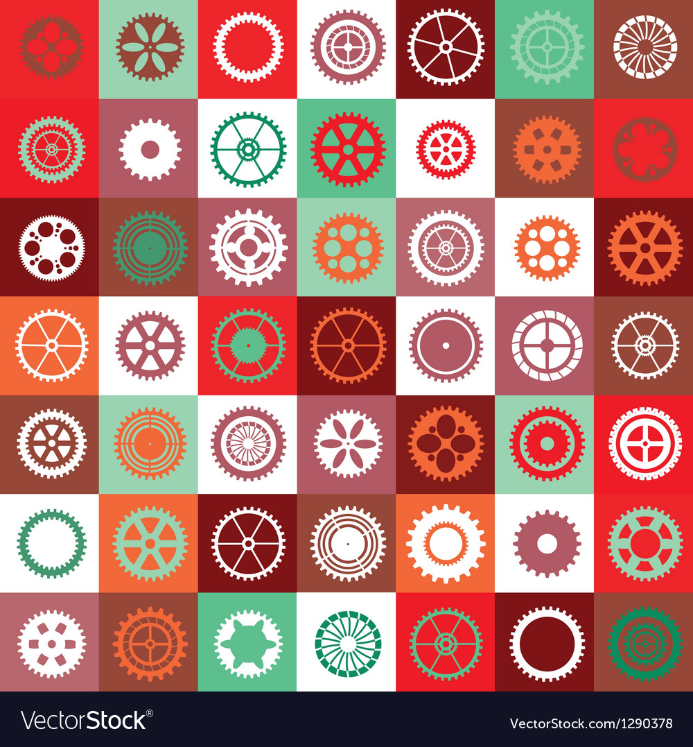 Mosaic gear vector | Price: 1 Credit (USD $1)