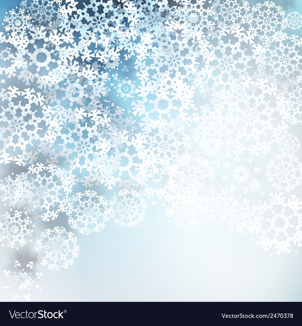 Paper snowflakes for winter background vector | Price: 1 Credit (USD $1)