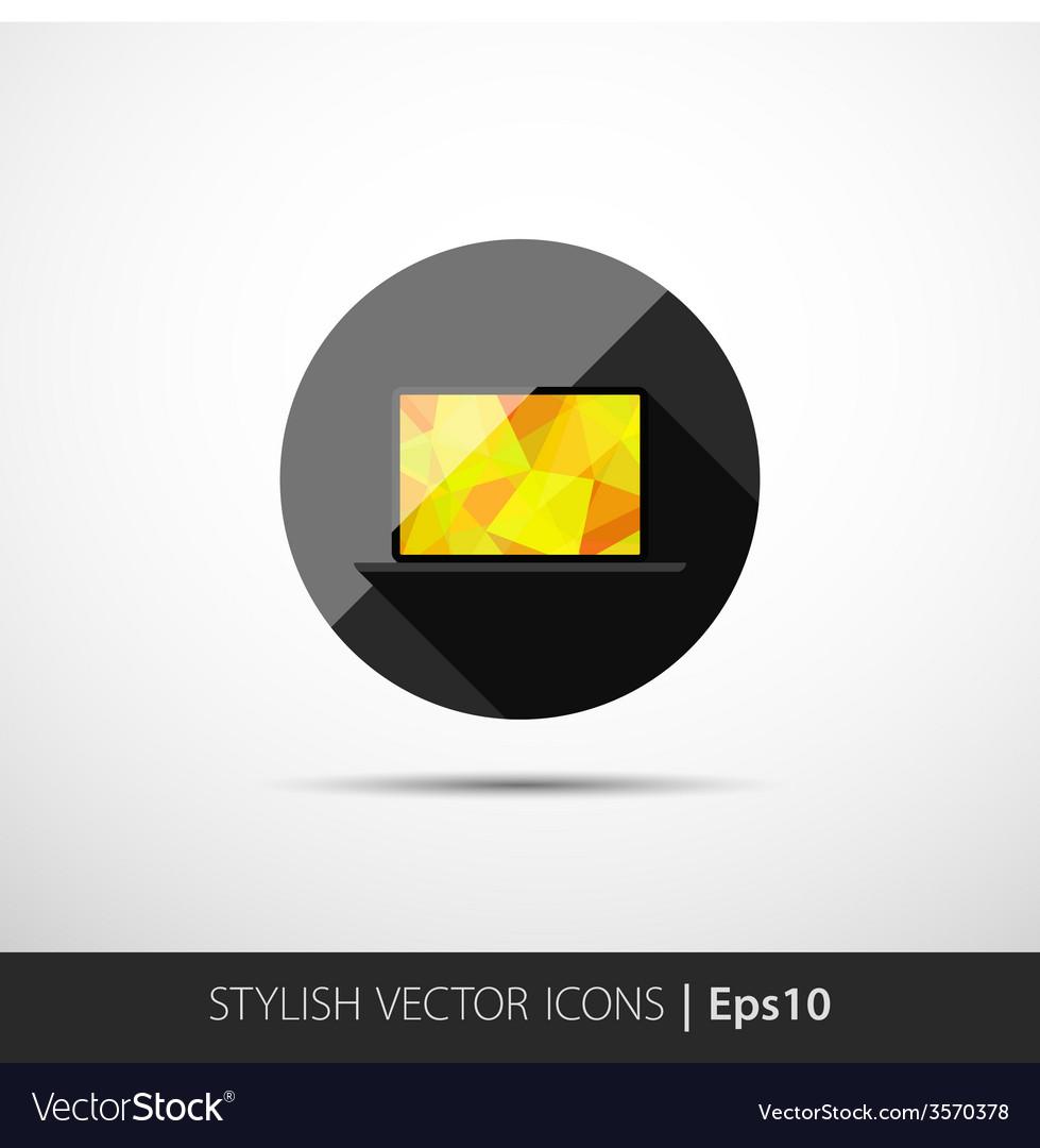 Polygonal laptop vector | Price: 1 Credit (USD $1)